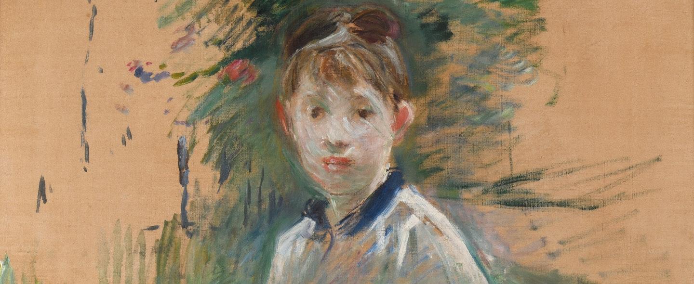 Portrait of Miss Lambert by Berthe Morisot