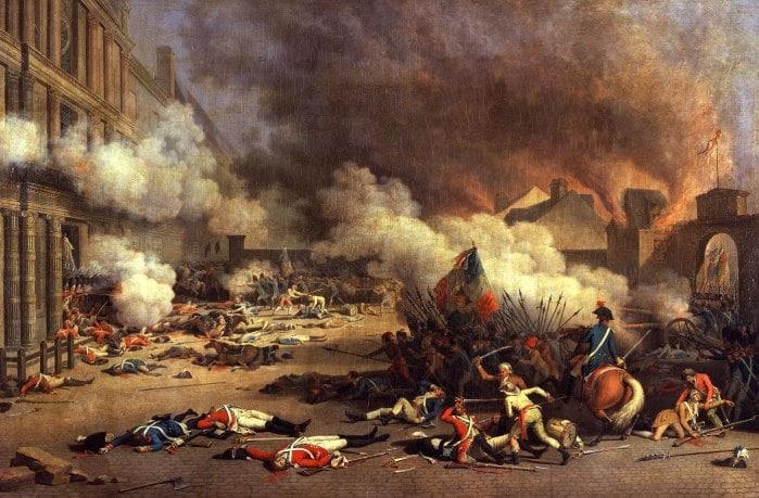 La Prise du Palais des Tuileries by Bertaux